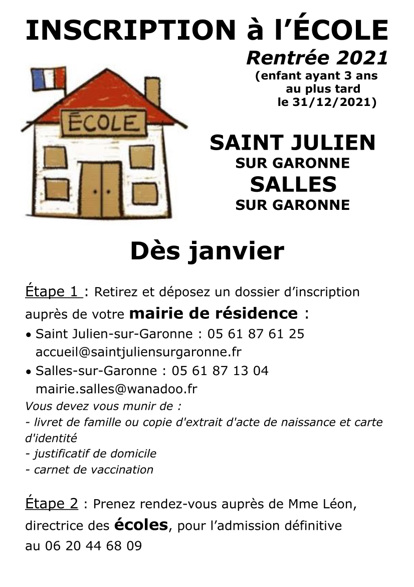 inscriptions affiche